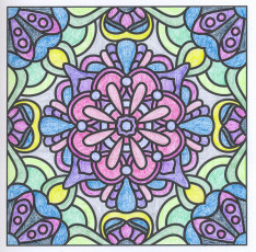 Colored by Angie Grace - from Flowers (For Crayons And Wide Tipped Markers)